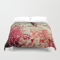 blood Duvet Covers featuring Autumn Inkblot by Olivia Joy StClaire