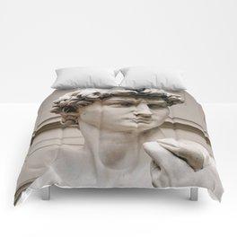 """Michelangelo """"David"""" (head)(1) Comforters"""