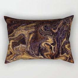 Chocolate and Gold Rectangular Pillow