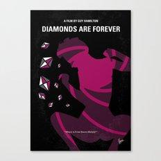 No277-007 My Diamonds Are Forever minimal movie poster Canvas Print