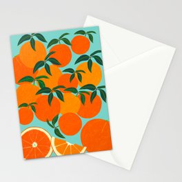 Orange Harvest - Blue Stationery Cards
