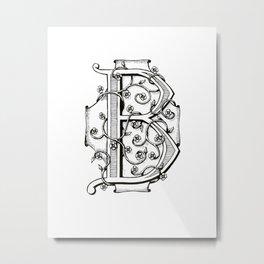 Monogram B Metal Print