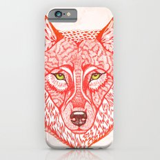 Red wolf iPhone 6 Slim Case