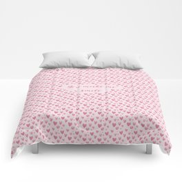 You Make Me Smile - Hearts Pattern Comforters