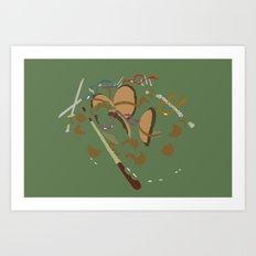 Teenage Mutant Ninja Turtles - Leo Don Raph Mike Art Print