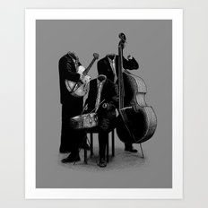 The Invisibles (On Grey) Art Print