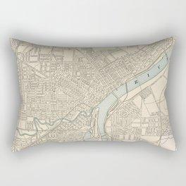 Vintage Map of Toledo Ohio (1901) Rectangular Pillow