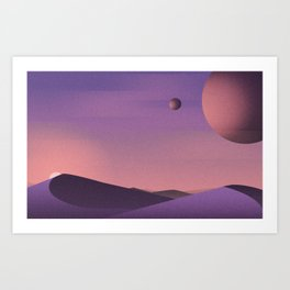 Unknown Planet Art Print