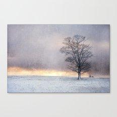 Winter Sunrise, Wramplingham, Norfolk Canvas Print