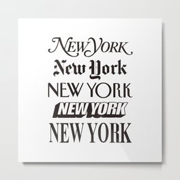 I Heart New York City Black and White New York Poster I Love NYC Design black-white home wall decor Metal Print