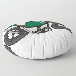 Cafe Racer Floor Pillow