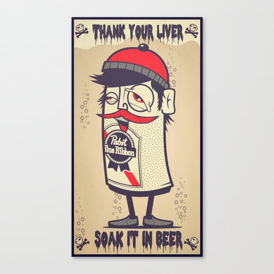 Thank Your Liver Canvas Print