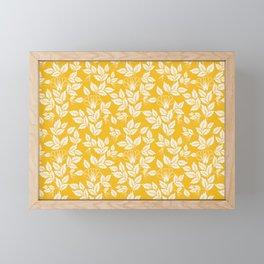 Leaves Pattern 11 Framed Mini Art Print