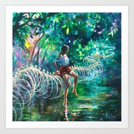 Dopamine Jungle Art Print