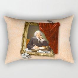 The Scribe's Secret Chamber Rectangular Pillow