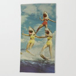 On Evil Beach - Shark Attack Beach Towel