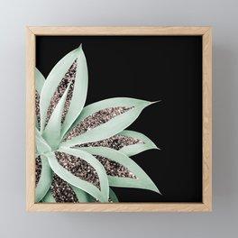 Agave Finesse Glitter Glam #2 #tropical #decor #art #society6 Framed Mini Art Print