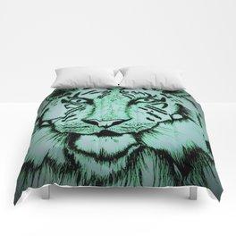 Neon Tiger Green Comforters