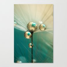 Dandy with Drops of Gold and Jade Canvas Print