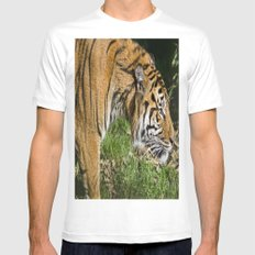 On The Prowl White Mens Fitted Tee MEDIUM