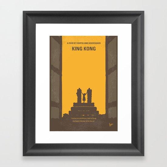 No133 My KING KONG minimal movie poster Framed Art Print