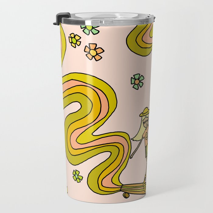 girl gang // dogtown and z girls // skateboard girl power by surfy birdy Travel Mug