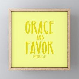 Grace and Favor Framed Mini Art Print