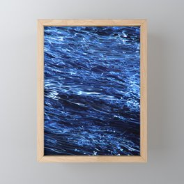 Electric Water Abstract ICM Framed Mini Art Print