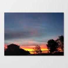 Lurid Dawn: 10.08.15 Canvas Print
