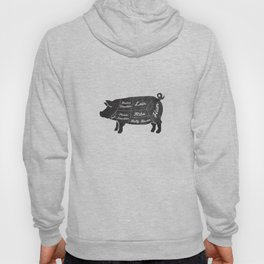 PORK BUTCHER DIAGRAM (pig) Hoody