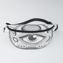 Yes No Goodbye Magic Ouija Vintage Planchette Design Fanny Pack