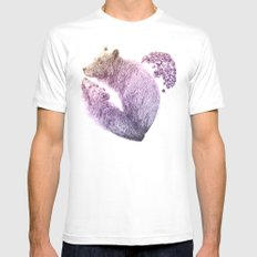 Bear your Heart v2 Mens Fitted Tee White MEDIUM