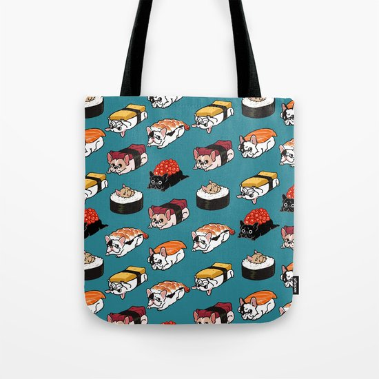 Sushi Frenchie Tote Bag