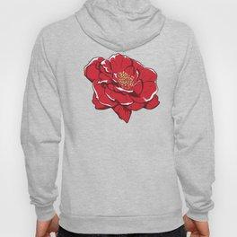 Pretty Red Rose Flower Hoody