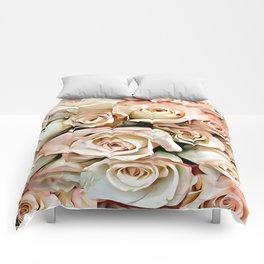 Delicate Peach Roses Comforters