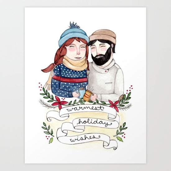 Warmest Holiday Wishes Art Print