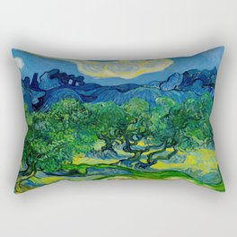 Olive Trees by Vincent Van Gogh Oil Painting Rectangular Pillow