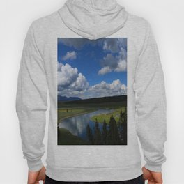 Meadow With Yellowstone River Hoody