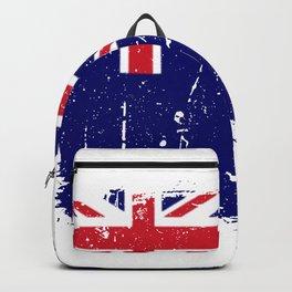 Distressed Saint Helena Flag Graffiti Backpack