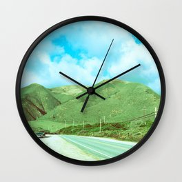 Salinas Mountains // California Wall Clock