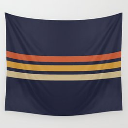 Vintage Retro Stripes Wall Tapestry