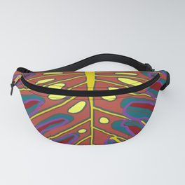 Monstera Flying to Autumn Fanny Pack