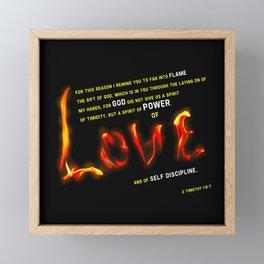Love's Flame Framed Mini Art Print