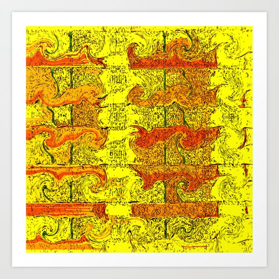 Desert  Storm Art Print