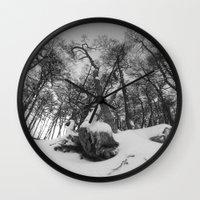 beaver Wall Clocks featuring Beaver Hill  by Diego Zalduondo
