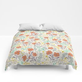 Colorful Peonies Comforters