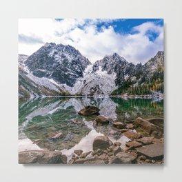 Colchuck Lake Mountain Hiking Adventure Metal Print