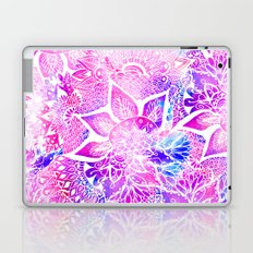 Purple blue henna boho floral mandala pattern Laptop & iPad Skin