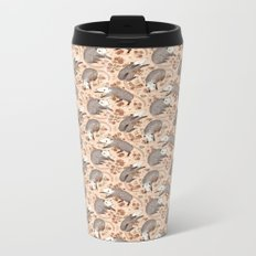 Opossum and Roses Metal Travel Mug