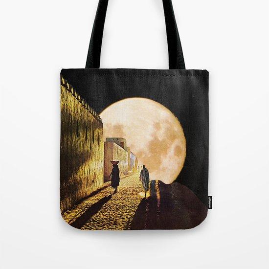 Walking at the moonlight Tote Bag
